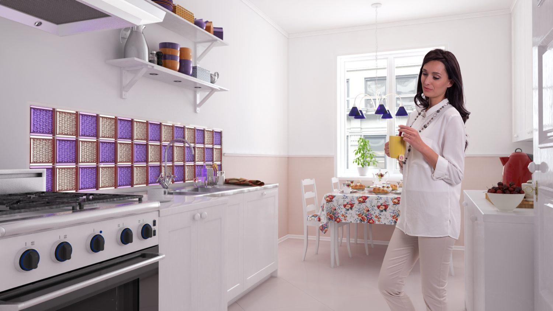 Fioletowy kolor przewodni w kuchni
